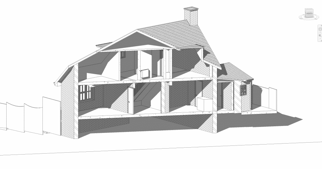 cross section of willow hill property